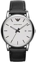 Emporio Armani Men's AR1694 Dress Black Leather Watch