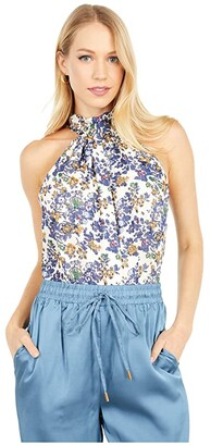 Bishop + Young Belle Isle Tie Neck Top (Belle Isle) Women's Clothing