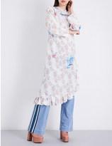 Ground Zero Hooded silk-crepe de chine dress