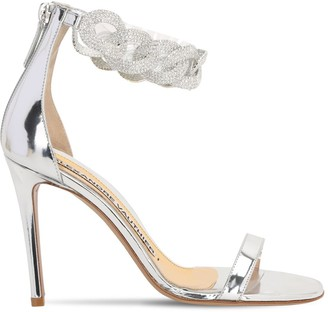 Alexandre Vauthier 100mm Metallic Leather Sandals