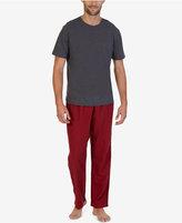 Nautica Men's Micro Gingham Pajama Set