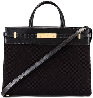 Saint Laurent Small Manhattan Bag in Black | FWRD