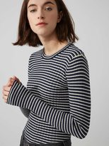 Frank + Oak Cotton-Blend Scoopneck Striped Sweater