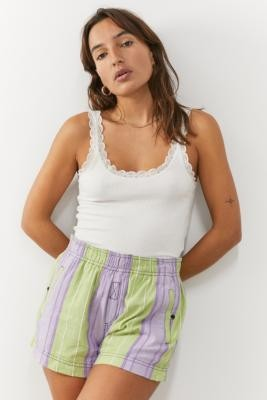 Out From Under Bridget Bali Shorts - Purple XS at Urban Outfitters