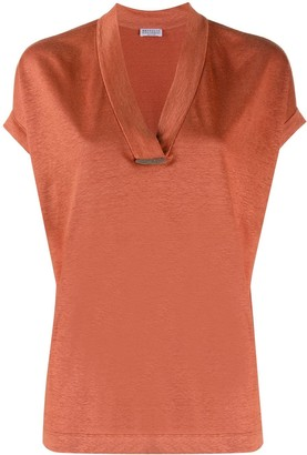 Brunello Cucinelli V-neck melange T-shirt