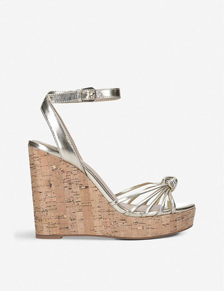 Aldo Kaoedia metallic faux-leather wedge sandals