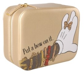 Disney Minnie Mouse Gold Square Jewelry Case