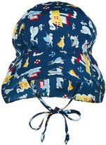 I Play Flap Sun Protection Hat (Baby/Toddler) - Navy Tugboat - 9-12 Months