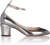 Valentino Women's Tango Specchio Leather Ankle-Strap Pumps-SILVER