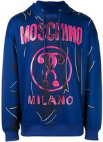 Moschino trompe-l'oeil logo hoodie - men - Cotton/Polyester - 50