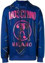 Moschino trompe-l'oeil logo hoodie