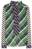 Mary Katrantzou Striped Silk Blouse