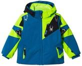 Spyder Blue and Green Mini Leader Ski Jacket