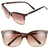 Kate Spade Women's Kasie 55Mm Cat Eye Sunglasses - Havana/ Nude