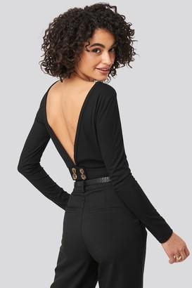 Trendyol Back Low-cut Knitted Blouse Black