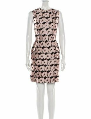 Christian Dior Printed Mini Dress Pink