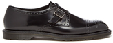 Dr. Martens Henley Cobden Monk Strap Shoes Black Polished Smooth