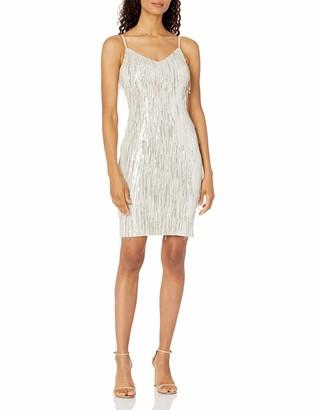 Calvin Klein Women's V-Neck Cocktail Slip Dress