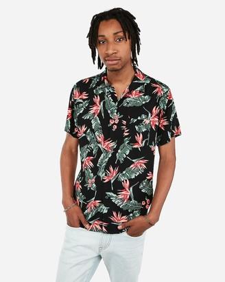 Express Short Sleeve Rayon Hawaiian Shirt