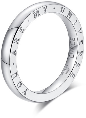 """Milani Alberto Dirce """"You Are My Universe"""" 18k White Gold 2.5mm Band Ring, Size 6"""