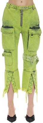 Marques Almeida Multi Pocket Cropped Denim Jeans