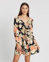 Miss Selfridge Floral Tie Front Mini Dress