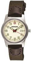 Wenger Womens 'City Active' Swiss Quartz Stainless Steel and Brown Nylon Casual Watch 01.0411.124
