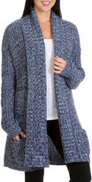 Larry Levine Long Sleeve Patch Pocket Cardigan