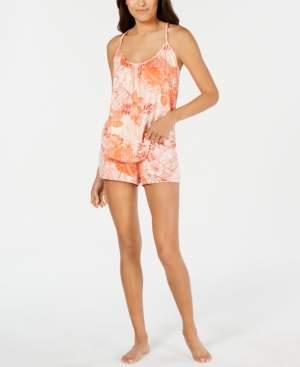 Linea Donatella Hibiscus-Print Cami & Shorts Sleep Set
