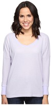 Allen Allen Long Sleeve Drop Shoulder High-Low V-Neck