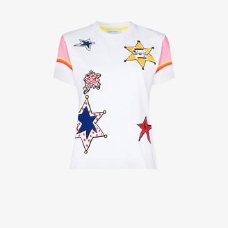 Mira Mikati star embroidered T-shirt