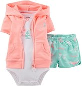 Carter's 3 Piece Cardigan Set (Baby)-6 Months