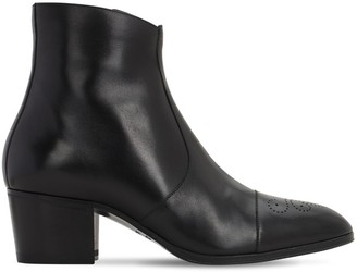 DSQUARED2 60mm Zip-Up Leather Ankle Boots