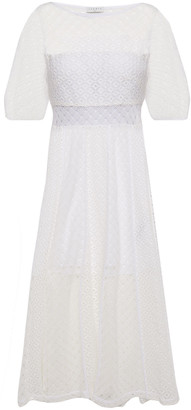 Sandro Malia Cutout Guipure Lace Midi Dress