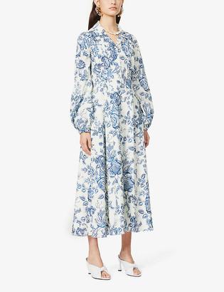 Erdem Kendrick floral-print cotton midi dress