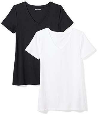 Amazon Essentials 2-Pack Short-Sleeve V-Neck T-Shirt,US M (EU M-L)