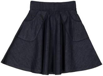 Teela Nyc Denim Circle Skirt