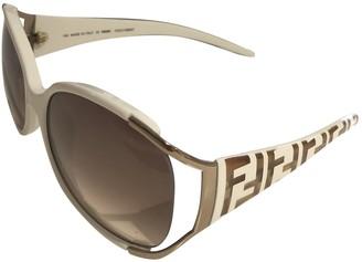 Fendi Beige Plastic Sunglasses