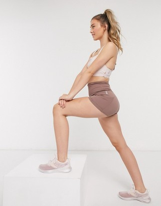 FREE PEOPLE MOVEMENT off beat shorts in mauve