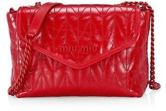 Miu Miu Matelasse Leather Shoulder Bag