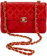One Kings Lane Vintage Chanel Paris New York Red Mini Flap