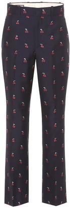 Gucci Fil coupA cotton and wool pants