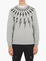 Neil Barrett Grey Lightning Bolt Sweatshirt