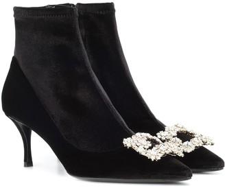 Roger Vivier Velvet ankle boots