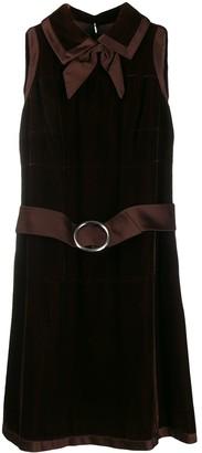 A.N.G.E.L.O. Vintage Cult 1960's Velvet Effect Belted Dress