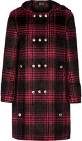 Alexander Wang Checked cotton-blend hooded coat