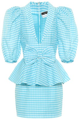 Rotate by Birger Christensen Johanna gingham minidress