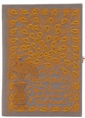 Olympia Le-Tan Pride & Prejudice-embroidered Canvas Clutch Bag - Womens - Green Multi