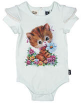 Rock Your Baby Girls Kitty Cat Ss Romper (3 - 24M)
