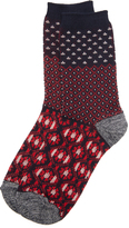 Madewell Pattern Colorblock Trouser Socks